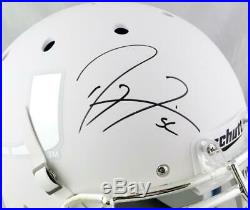 Ray Lewis Signed Miami F/S White withChrome Logo Authentic Helmet- Beckett W Auth
