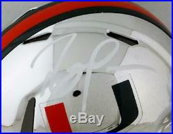 Ray Lewis Signed Miami Hurricanes Chrome Riddell Speed Mini Helmet- Beckett Auth