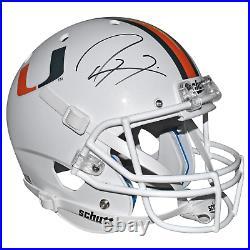 Ray Lewis Signed Miami Hurricanes Full-Size Schutt Replica White Football Helmet
