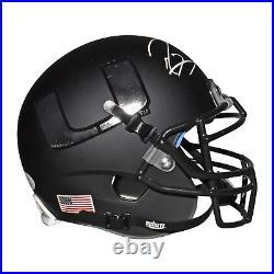 Ray Lewis Signed Miami Hurricanes Mini Schutt Replica Black Football Helmet JSA