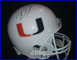 Ray Lewis Signed Miami Hurricanes Signed Full Size Helmet