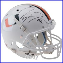 Ray Lewis University of Miami Autographed Replica Helmet JSA Certified