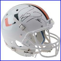 Ray Lewis University of Miami Signed Replica Helmet JSA Certified Fanatics