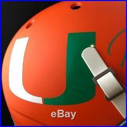Ray Lewis autographed signed custom helmet full size NCAA Miami Hurricane PSA