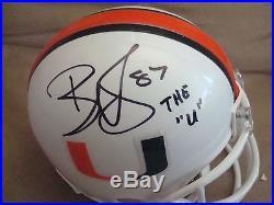 Reggie Wayne AUTOGRAPH MIAMI HURRICANES Mini Helmet SIGNED THE U