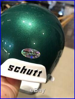 Reggie Wayne Autographed Miami Hurricanes Mini Helmet