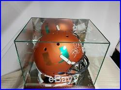 Reggie Wayne Autographed University Of Miami F/s Helmet Beckett Witness Coa