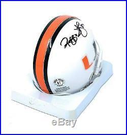 Reggie Wayne Miami Hurricanes Signed Autograph Mini Helmet Full Name Wayne Playe