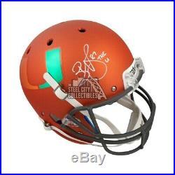 Reggie Wayne The U Autographed Miami Hurricanes Full-Size Football Helmet BAS