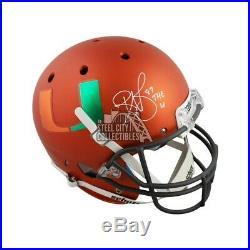 Reggie Wayne The U Autographed Miami Hurricanes Full-Size Football Helmet JSA