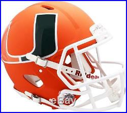 Riddell Miami Hurricanes AMP Alternate Revolution Speed Authentic Helmet