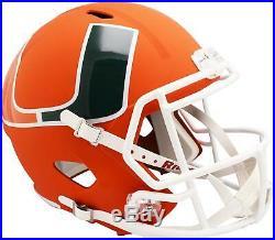 Riddell Miami Hurricanes AMP Alternate Revolution Speed Replica Football Helmet