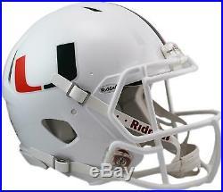 Riddell Miami Hurricanes Revolution Speed Full-Size Authentic Football Helmet