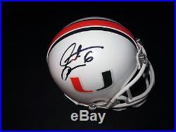 Santana Moss Signed Miami Hurricanes Mini Helmet