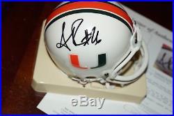 SEAN TAYLOR #26 Signed MIAMI HURRICANES Mini Helmet + JSA COA letter Z50971