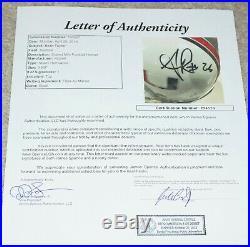 SEAN TAYLOR #26 Signed UM MIAMI HURRICANES Mini Helmet + JSA COA Z94539 Smudged