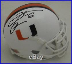 Santana Moss Autographed/signed Miami Hurricanes Schutt Mini Helmet 19105 Jsa