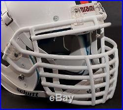 Schutt Super Pro BIG GRILL Football Helmet FACEMASK FACEGUARD MIAMI HURRICANES