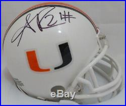 Sean Taylor Autographed Signed Miami Hurricanes Mini Helmet JSA #X34761
