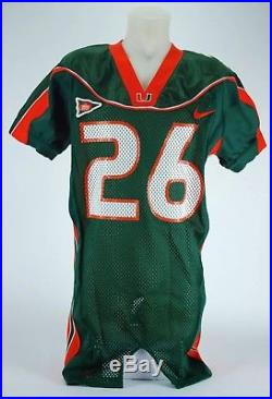 ... sean taylor game used miami hurricanes jersey washington s . 10a82d29a
