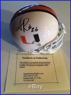 Sean Taylor Signed Miami Hurricanes Mini Helmet