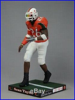 Sean Taylor custom Mcfarlane figure MIAMI HURRICANES Orange Jersey Helmet NFL