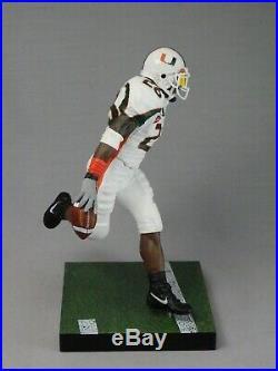 Sean Taylor custom Mcfarlane figure MIAMI HURRICANES White Jersey Helmet NFL