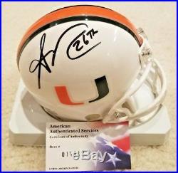 Sean Taylor signed University of Miami Hurricanes mini helmet
