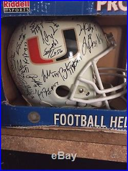 Signed 2004 Miami Hurricanes Helmet No COA