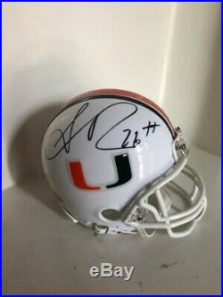 Signed Sean Taylor Miami Hurricanes Mini Helmet withCOA