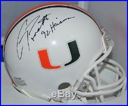 Testaverde Torretta Autographed Mini Helmets Miami Hurricanes 86,92 Heisman Jsa