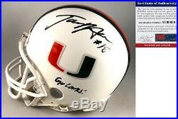 Tate Martell Signed Mini Helmet UM Miami Hurricanes PSA/DNA COA