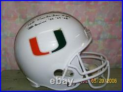Ted Hendricks Signed F/s Rep Miami Canes Helmet Raiders Hof90