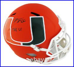 Travis Homer Signed Miami Huricanes Speed Full Size AMP NCAA Helmet with The U