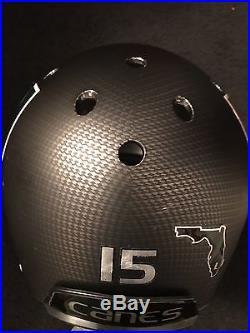 University Of Miami HURRICANES Protoype Carbon Fiber Schmitt XP Helmet