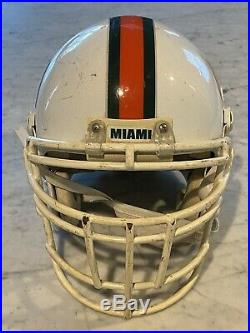 University Of Miami Hurricanes Riddell Game Worn Helmet. #97, CC