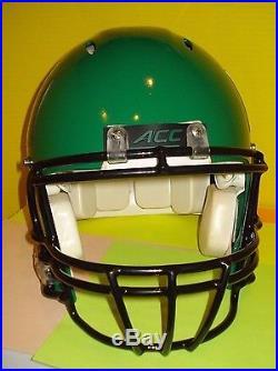 University of Miami Hurricanes Custom Green Football Full Size Helmet UM
