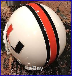 University of Miami Hurricanes Full Size Large Replica Riddell Football Helmet