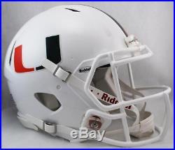 University of Miami Hurricanes Full Size Riddell Speed Football Helmet