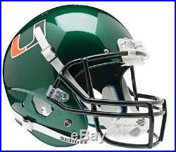 University of Miami Hurricanes Replica Green XP Helmet by Schutt NEW in Box