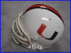 University of Miami Hurricanes full size game worn football helmet NCAA