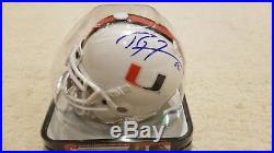 University of Miami Hurricanes mini helmet signed by Ray Lewis & Ed Reed Ravens