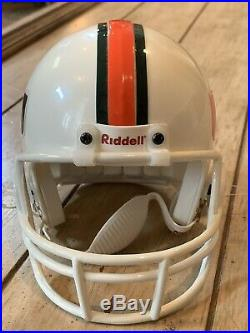 Vince Wilfork Autographed/Signed Mini Helmet TRISTAR Miami Hurricanes Patriots