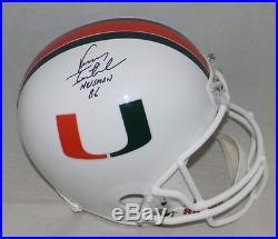 Vinny Testaverde Autographed Signed Miami Hurricanes Full Size Helmet Jsa
