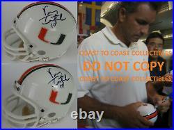 Vinny Testaverde, Miami Hurricanes, Heisman, signed, autographed, mini helmet, proof