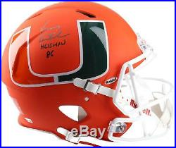 Vinny Testaverde Miami Hurricanes Signed AMP Alternate Helmet & Heisman 86 Insc