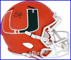 Vinny Testaverde Miami Hurricanes Signed AMP Alternate Speed Replica Helmet