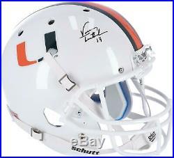 Vinny Testaverde Miami Hurricanes Signed Schutt Replica Helmet Fanatics