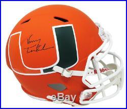Vinny Testaverde Signed Miami Hurricanes AMP Riddell Full Size Speed Helmet SS