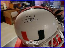 Vinny Testaverde autographed full size replica helmet(Miami Hurricanes)